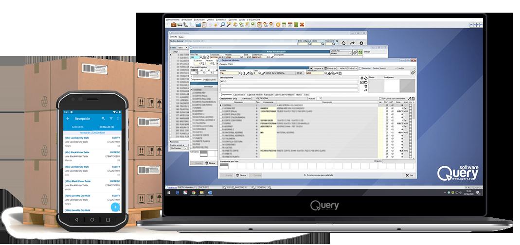 QueryPro en ordenador portátil