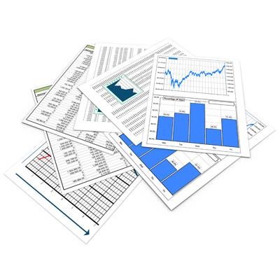 Hojas con estadísticas